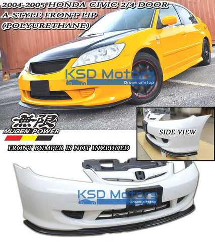 Honda Civic 04-05 Mugen lip spoiler for front bumper