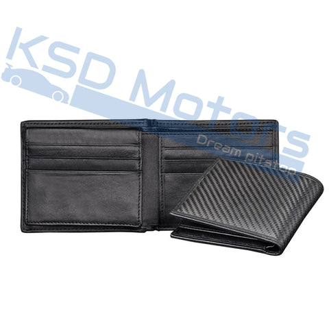 Luxury Design Real Carbon Fiber Wallet Matte Surface Pattern REAL Leather Business Men Purse