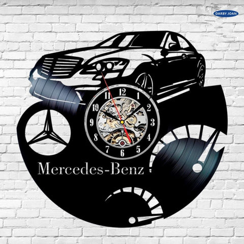 Mercedes Benz S Class Logo Vinyl Dick Record Wall Clock Modern Car Art Gift hot