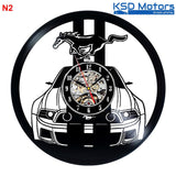 Ford Mustang Shelby 50 years american muscle car Wall Clock time part