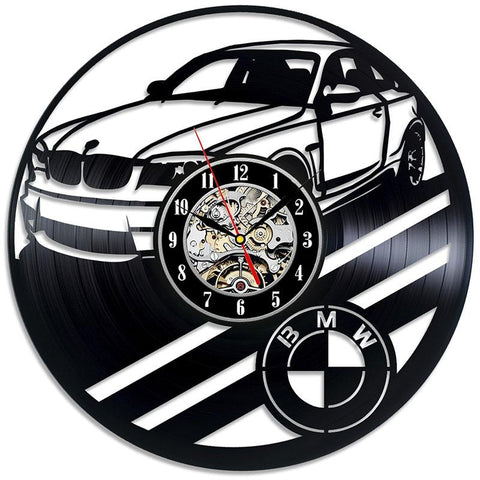 BMW 1M Logo Vinyl Dick Record Wall Clock Modern Car Art Gift for men and wome