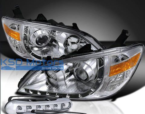 Honda Civic 03-06 Headlight LED DRL Chrome