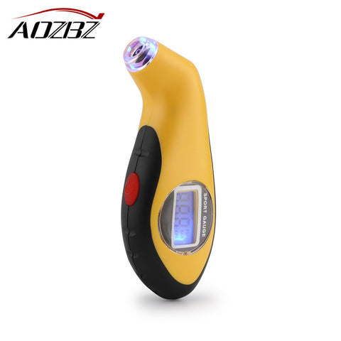 Mini Car Digital Tire Gauge LCD Display Pressure Tool 5-99psi