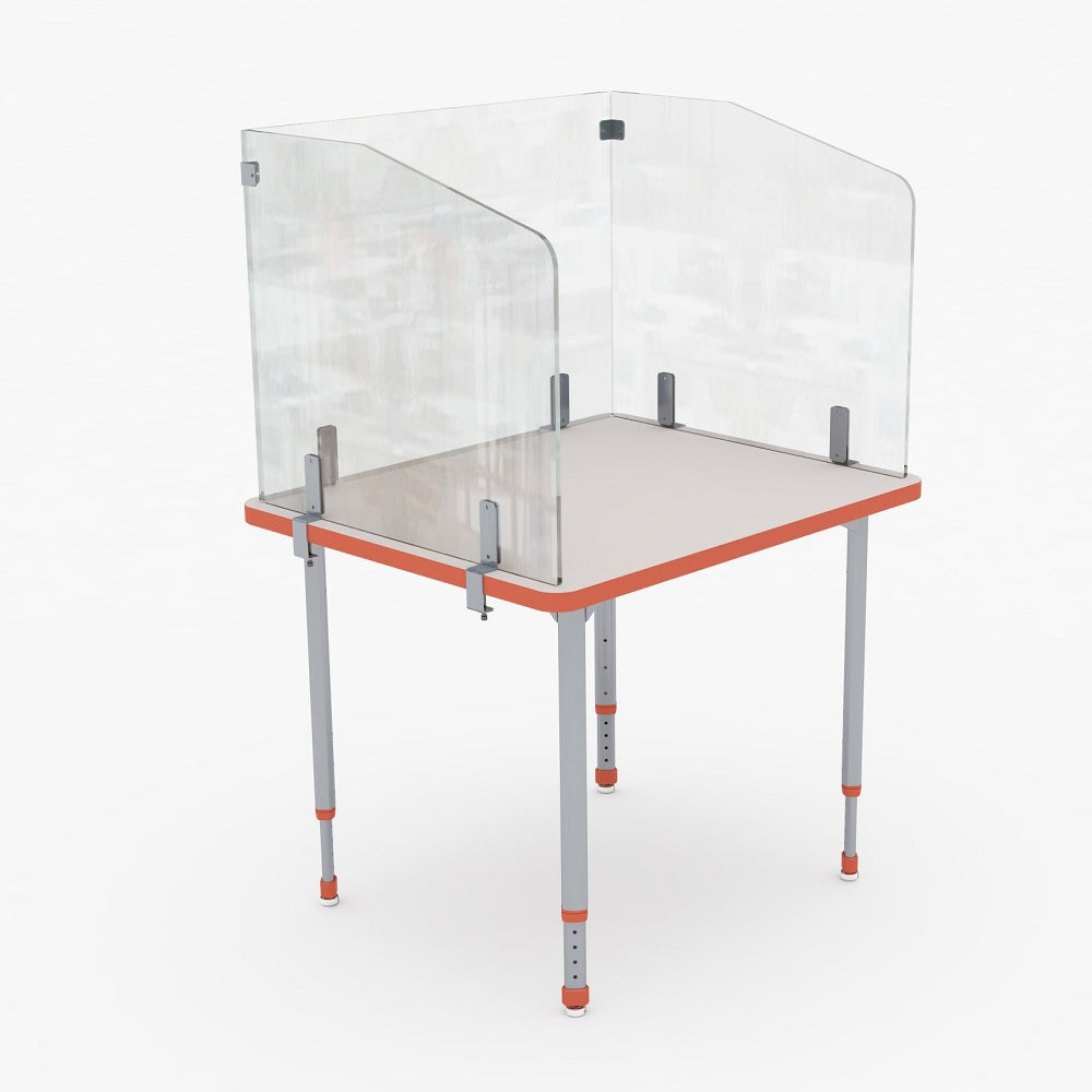 PARAGON CLEAR CLAMP-ON DESK DIVIDER