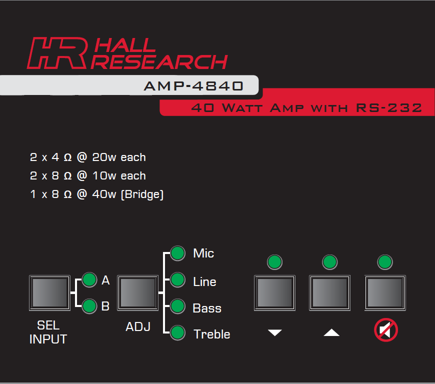 Hall Research AMP-4840