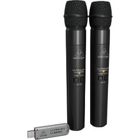 Behringer Ultralink ULM202USB USB Wireless Microphones (2 Handheld Mics Included)
