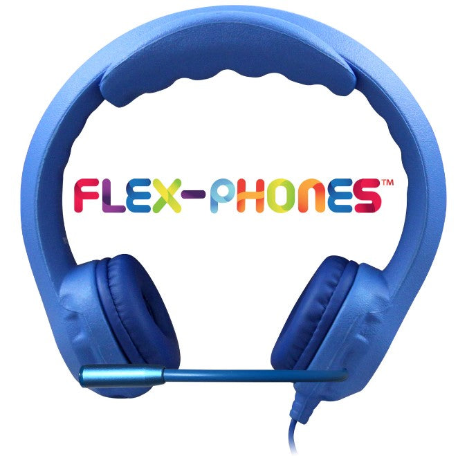 HamiltonBuhl Kids Blue Flex-Phone USB Headset with Gooseneck Microphone