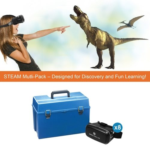 SpectraVR 8-Person STEAM Multi-Pack Kit with Carrying Case