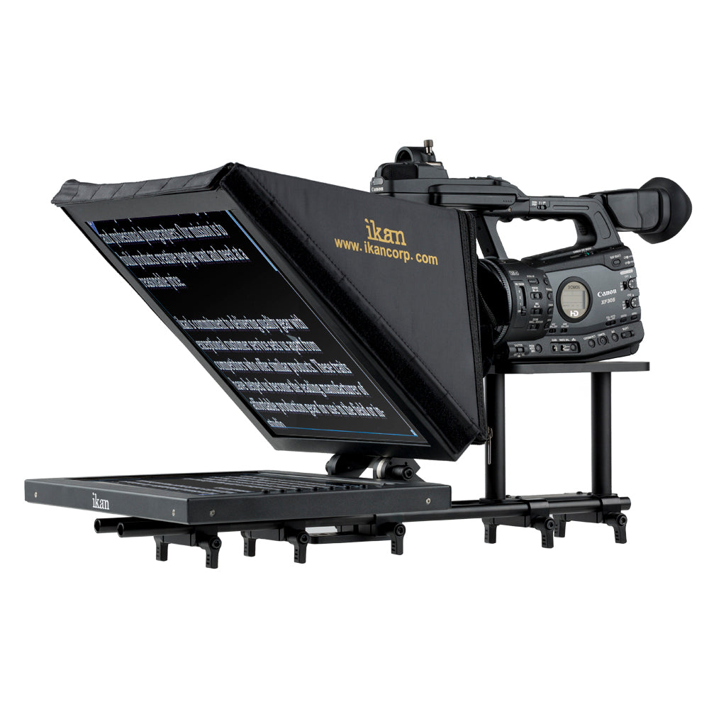 "iKan PT3500  |  15"" Rod Based Location Studio Teleprompter"