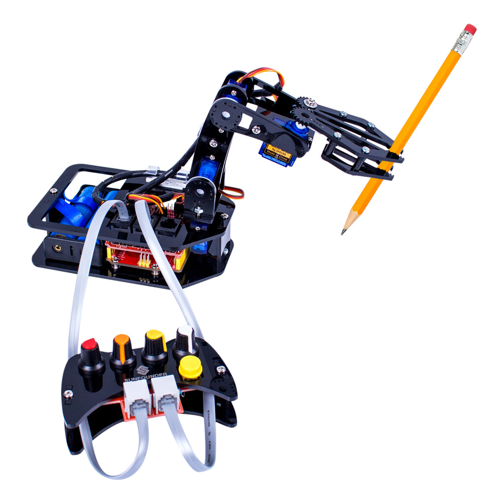 Robo-Arm Kit for Arduino - Programmable 4-Axis Robot Arm
