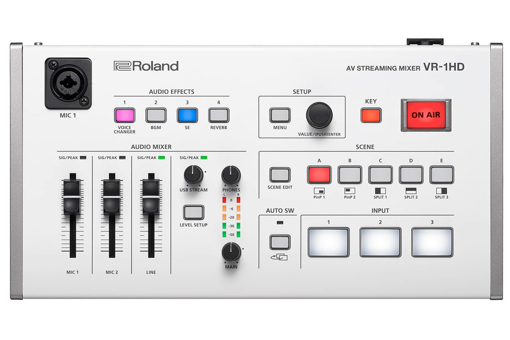 Roland VR-1HD AV Mixer - 3 channel with USB Stream/Record