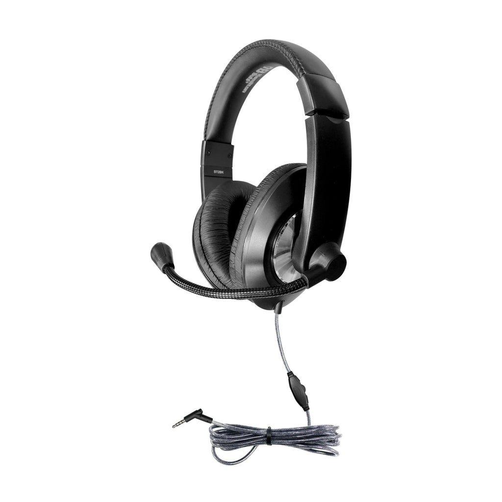 Hamilton Buhl ST2BK Smart-Trek Deluxe Stereo Headset with In-Line Volume Control