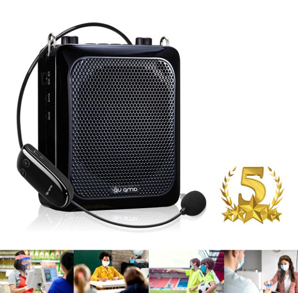 Amp-Up™ Personal UHF Voice Amplifier with Wireless Microphone – up to 40 Channels without Interference!