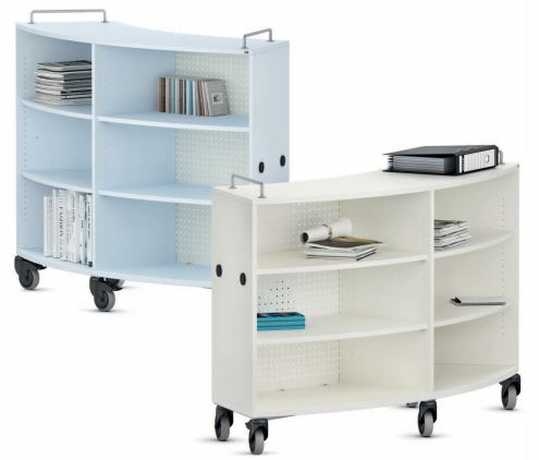 VS shift+ Transfer Mobile Bookcases - Curved