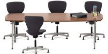 Series 901 Conference Table with Barrel Shaped Top with Two Round U-shaped Legs