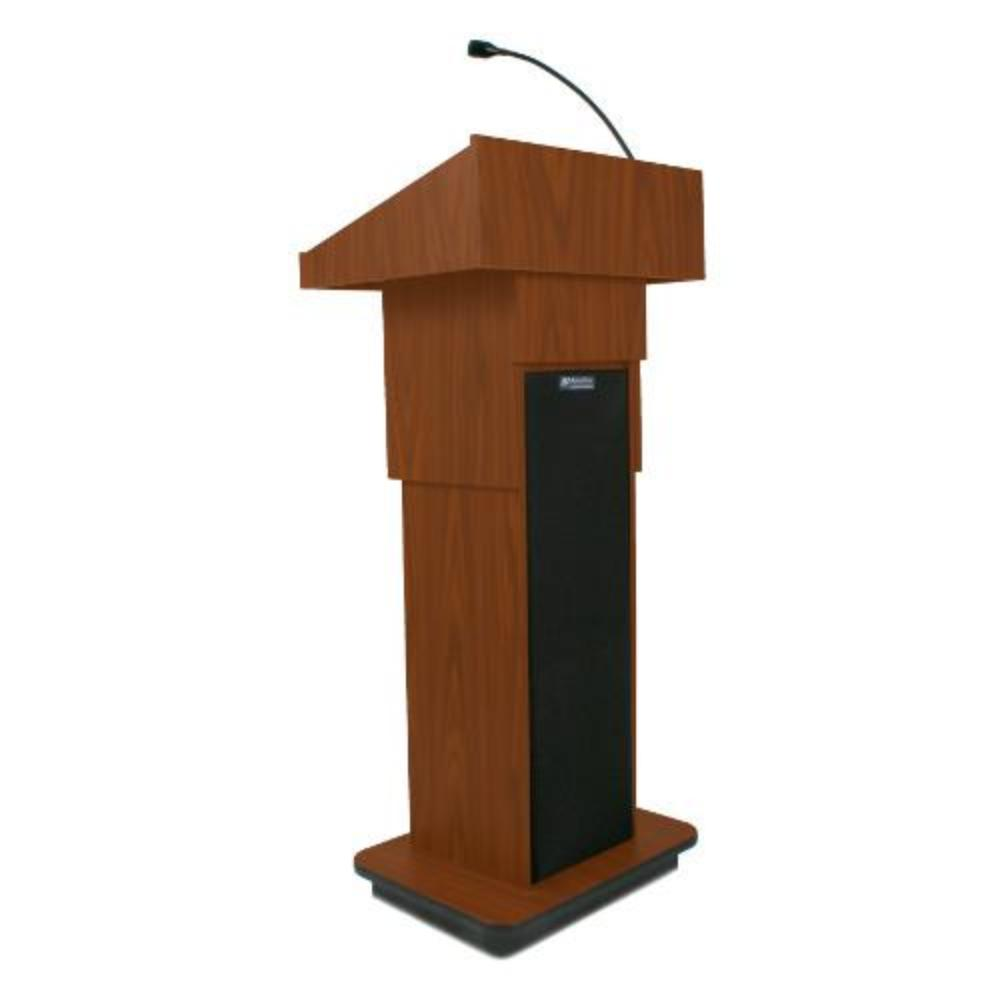 Amplivox S505A Executive Adjustable Column Lectern with Sound System