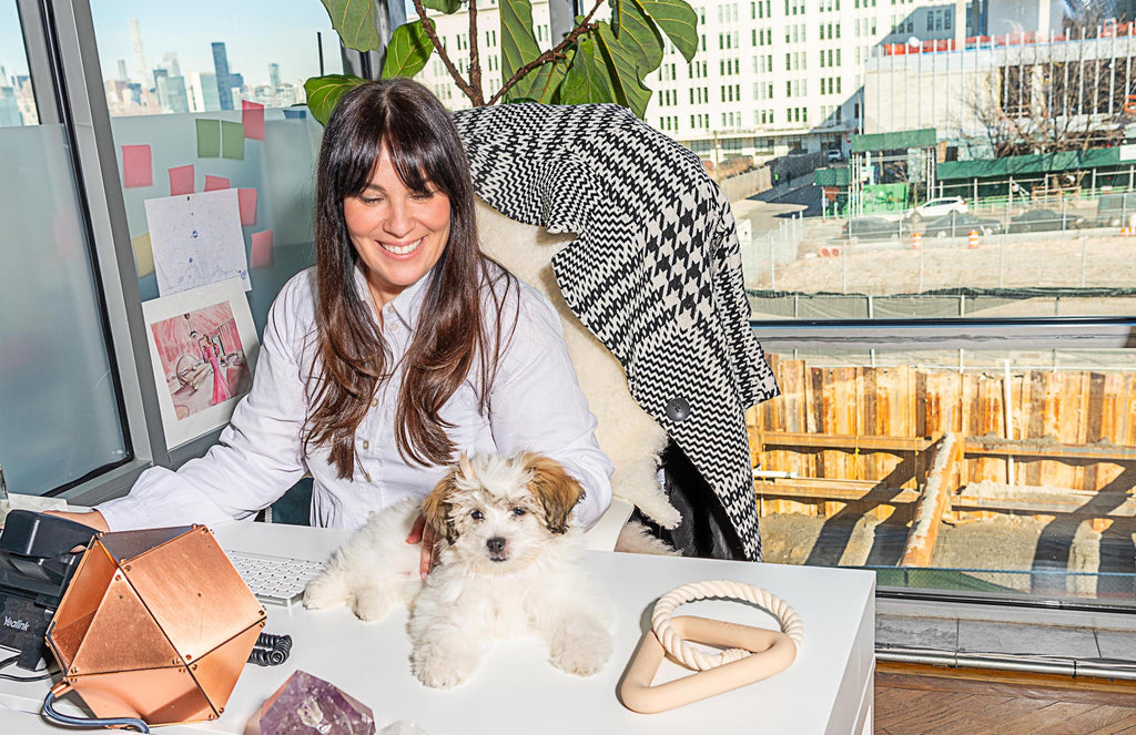 Cara Woodhouse is a new dog mom that knows design
