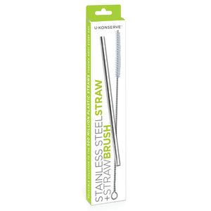 Stainless Steel Straw + Straw Brush