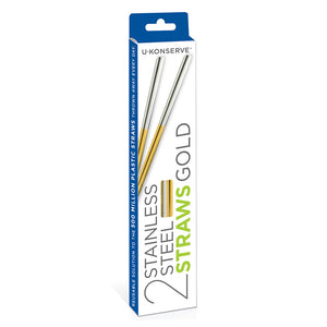 Stainless Steel Straws (Set of 2)
