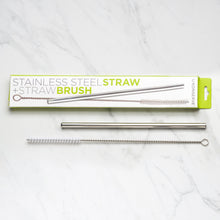 Load image into Gallery viewer, Stainless Steel Straw + Straw Brush