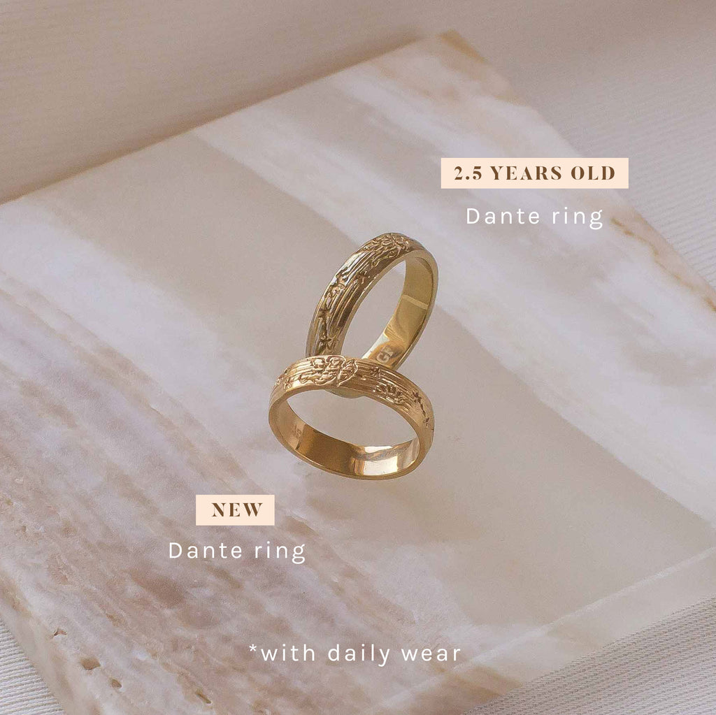 Dante ring gold filled new vs 2 years old