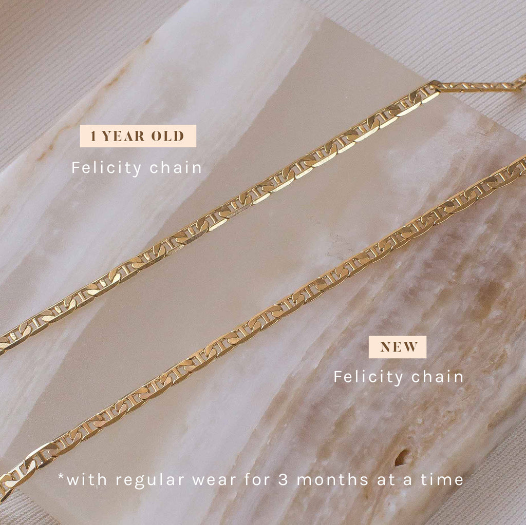 Felicity chain gold filled new vs 1 year old