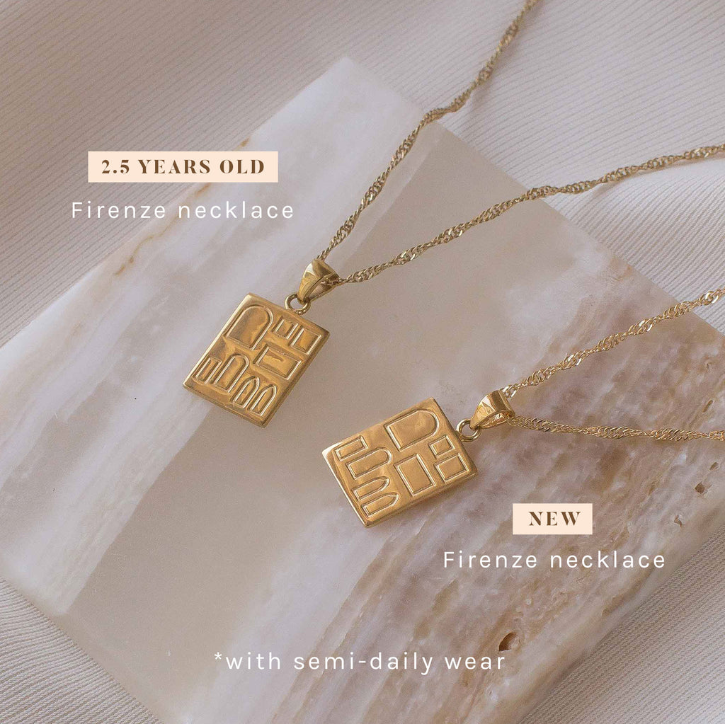 Firenze necklace gold filled new vs 2 years old