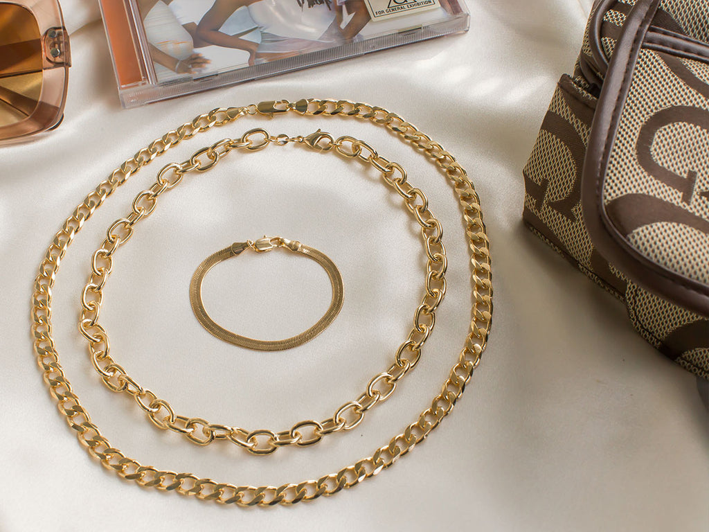 Y2K Inspired Gold Chunky Chains | S-kin Studio Jewelry