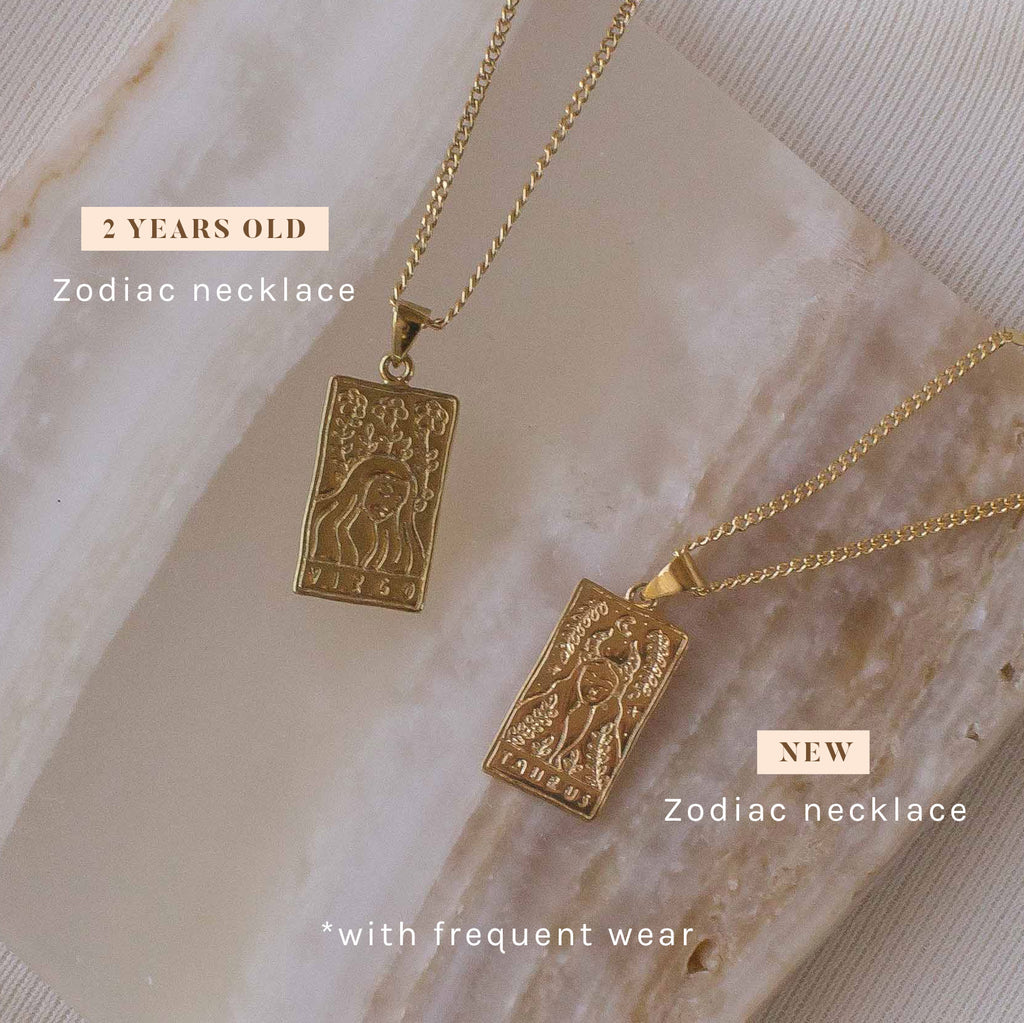 zodiac necklace gold filled new vs 2 years old