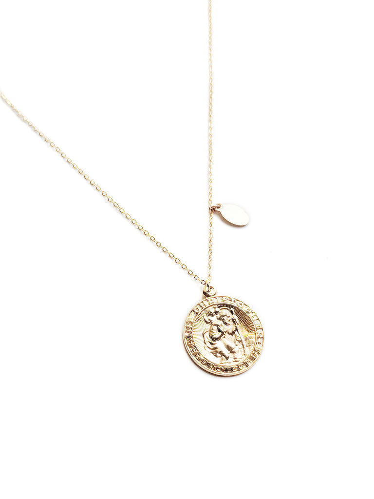 Jules Medallion Necklace - S-kin Studio Jewelry | Minimal Jewellery That Lasts.