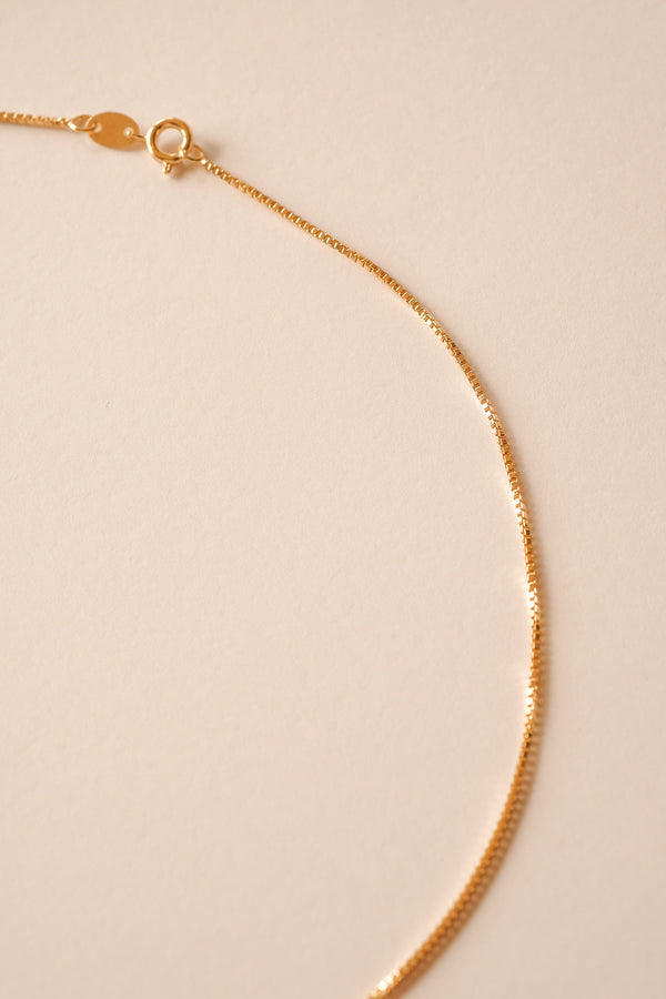 Box Chain Necklace - S-kin Studio Jewelry | Minimal Jewellery That Lasts.