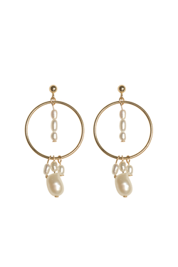 Calypso Mixed Pearl Earrings - S-kin Studio Jewelry | Minimal Jewellery That Lasts.
