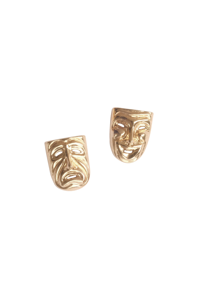 Comedy & Tragedy Studs - S-kin Studio Jewelry | Minimal Jewellery That Lasts.