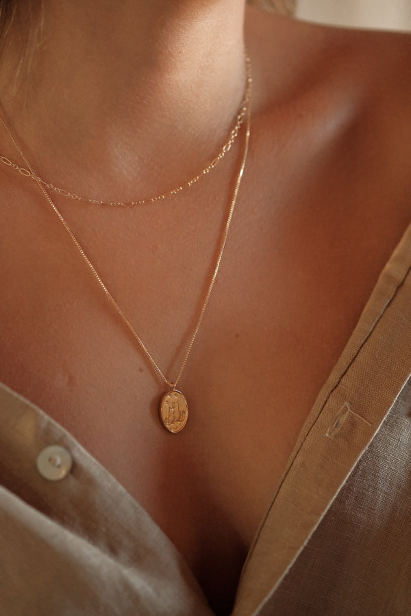 Rose Petal Etched Necklace - S-kin Studio Jewelry | Minimal Jewellery That Lasts.