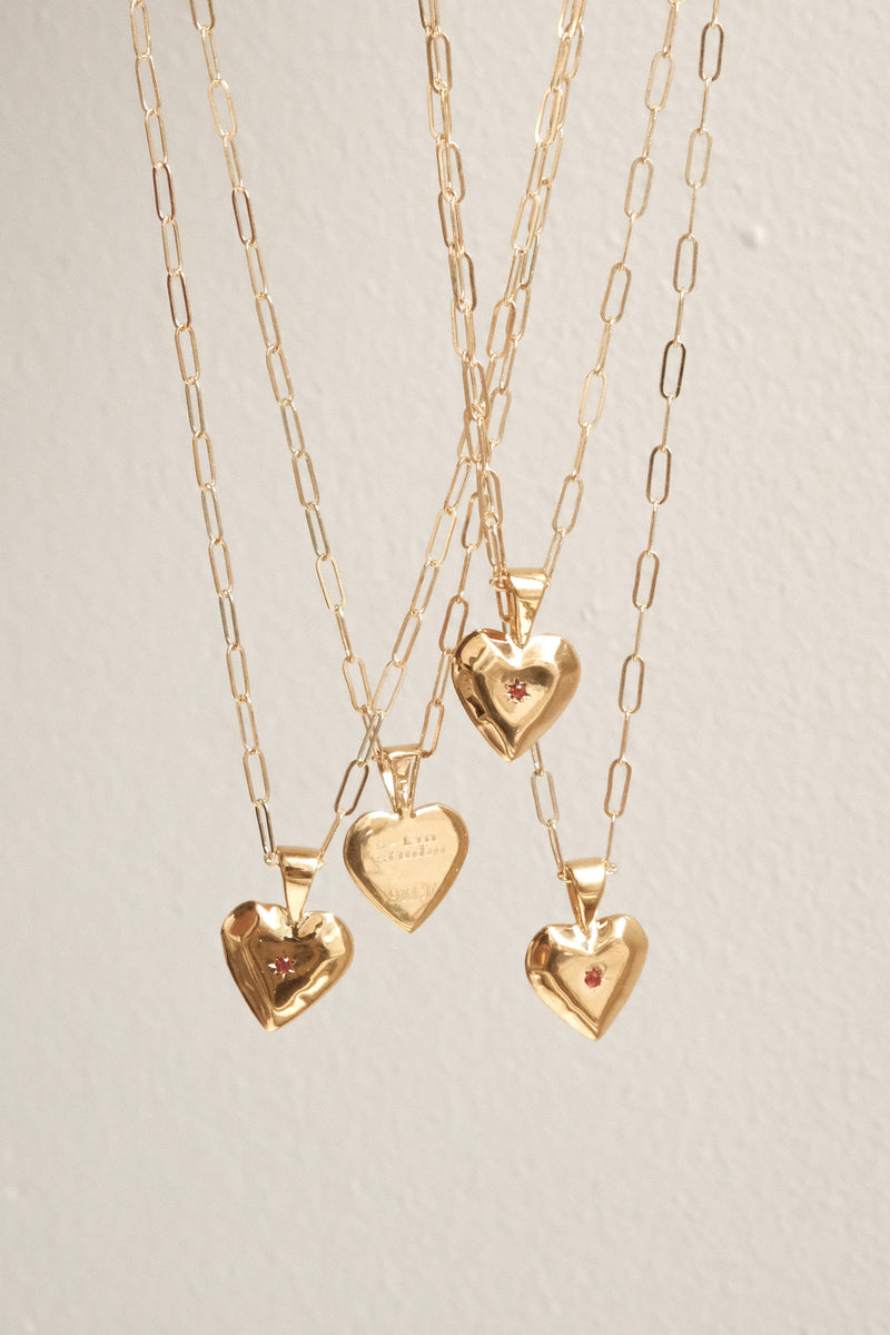 Gilded Heart Pendant Necklace - S-kin Studio Jewelry | Minimal Jewellery That Lasts.