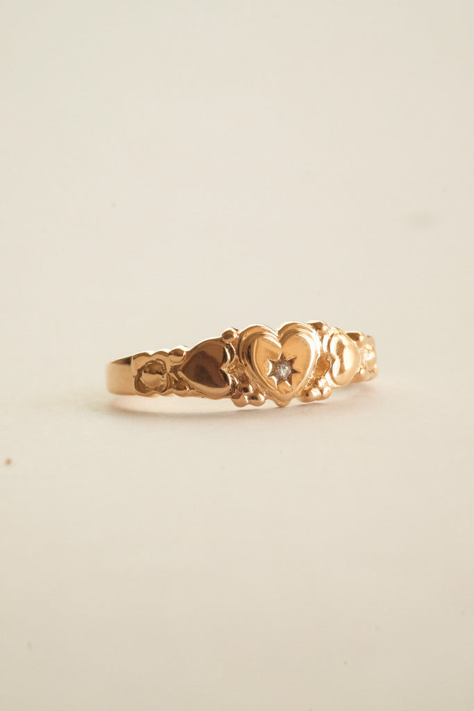 Patricia Heirloom Ring - Gold-Filled - S-kin Studio Jewelry | Minimal Jewellery That Lasts.