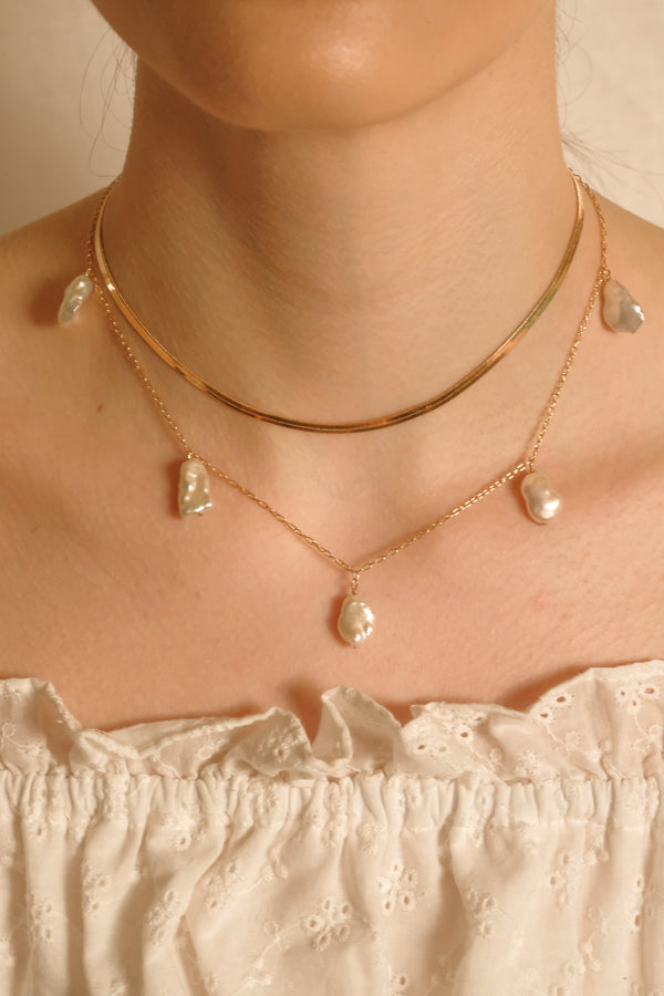 Ana Keshi Pearl Necklace - S-kin Studio Jewelry | Minimal Jewellery That Lasts.