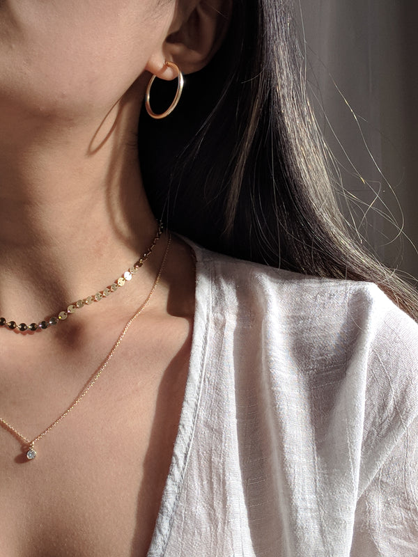 Sandra Basic Hoops - S-kin Studio Jewelry | Minimal Jewellery That Lasts.
