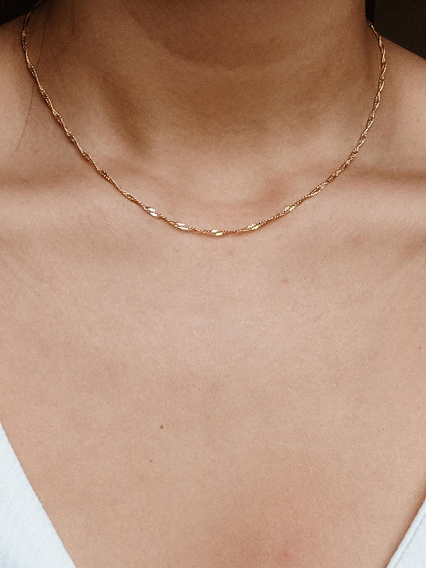 Vanessa Chain Necklace - S-kin Studio Jewelry | Minimal Jewellery That Lasts.
