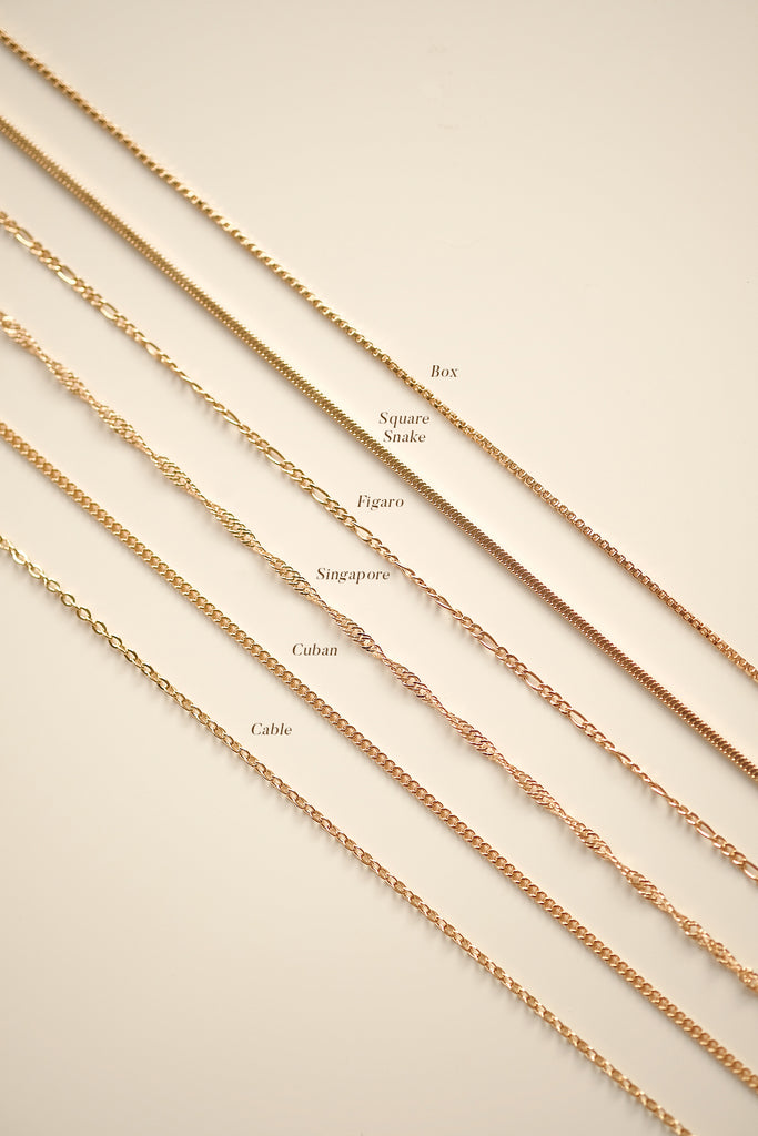 Square Snake Chain Necklace - S-kin Studio Jewelry | Minimal Jewellery That Lasts.