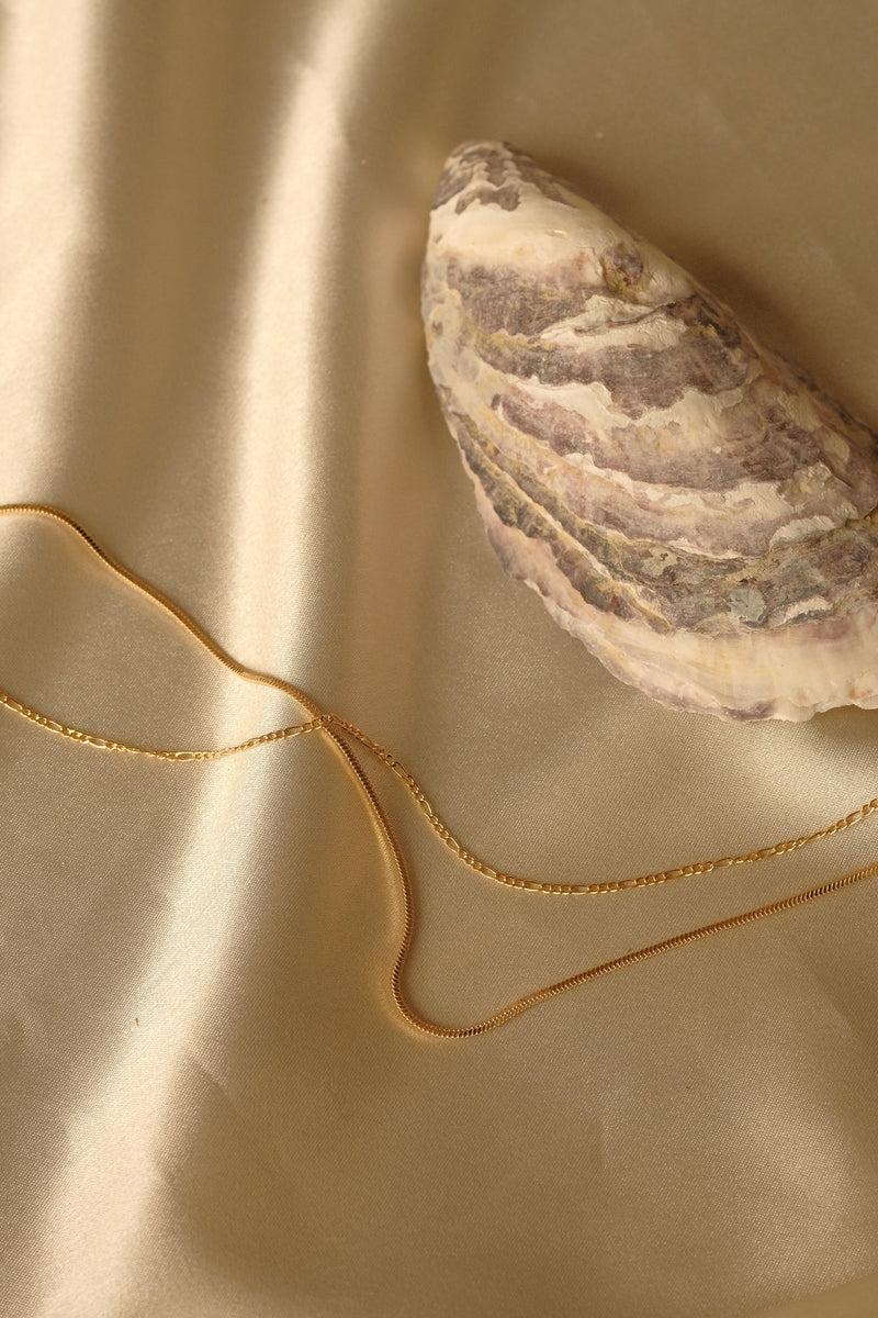 Figaro Chain Necklace - S-kin Studio Jewelry | Minimal Jewellery That Lasts.