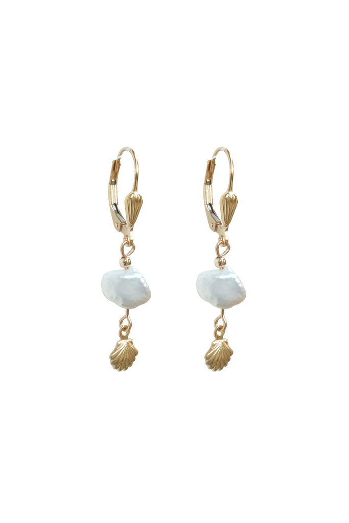 Moana Shell Pearl Earrings - S-kin Studio Jewelry | Minimal Jewellery That Lasts.