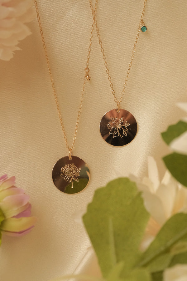 Chrysanthemum Necklace (November)