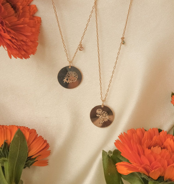 Morning Glory Necklace (September)