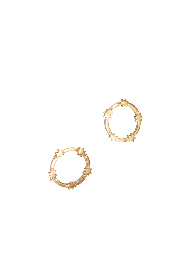 Stelle Circle Stars Studs - S-kin Studio Jewelry | Minimal Jewellery That Lasts.