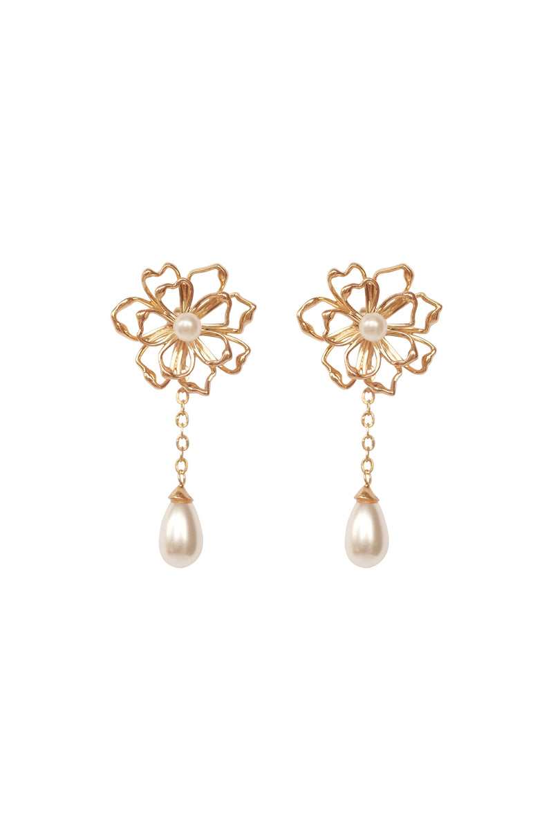 Terra Drop Pearl Earrings - S-kin Studio Jewelry | Minimal Jewellery That Lasts.