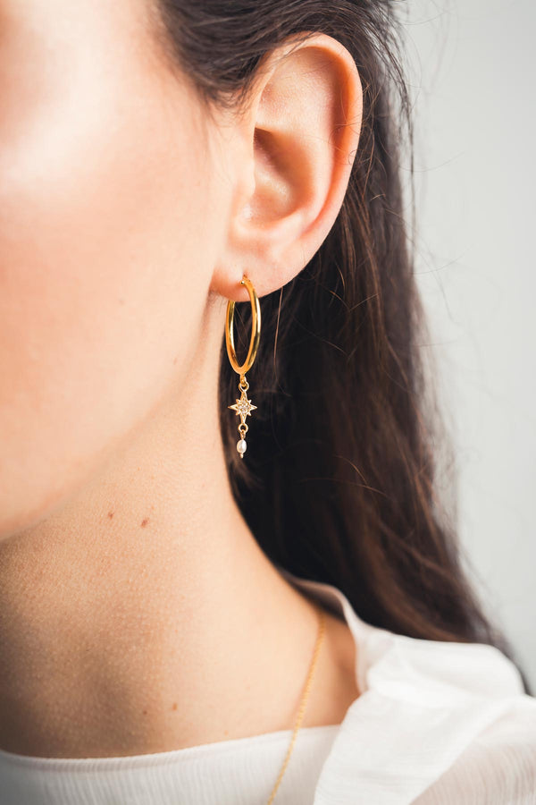 Acrux Constellation Hoops - S-kin Studio Jewelry | Minimal Jewellery That Lasts.