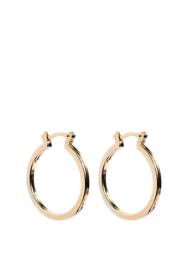 Celine Flat Hoops - S-kin Studio Jewelry | Minimal Jewellery That Lasts.