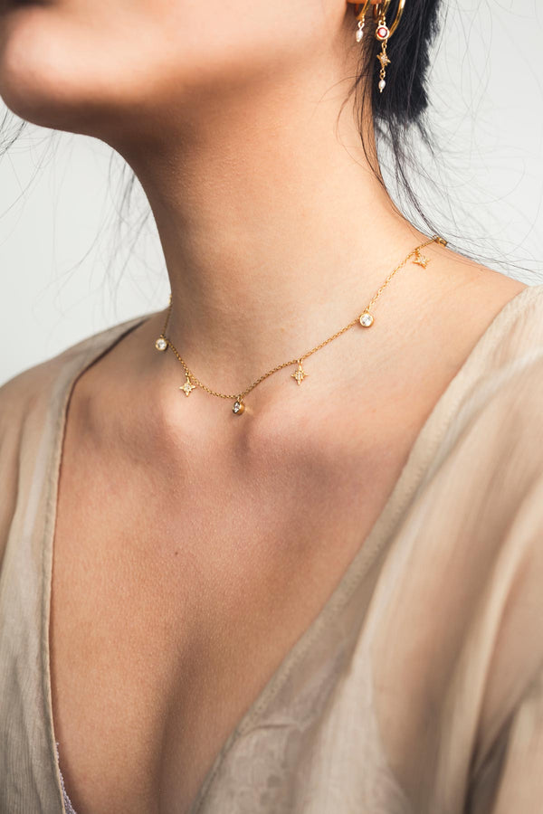Crux Constellation Choker - S-kin Studio Jewelry | Minimal Jewellery That Lasts.
