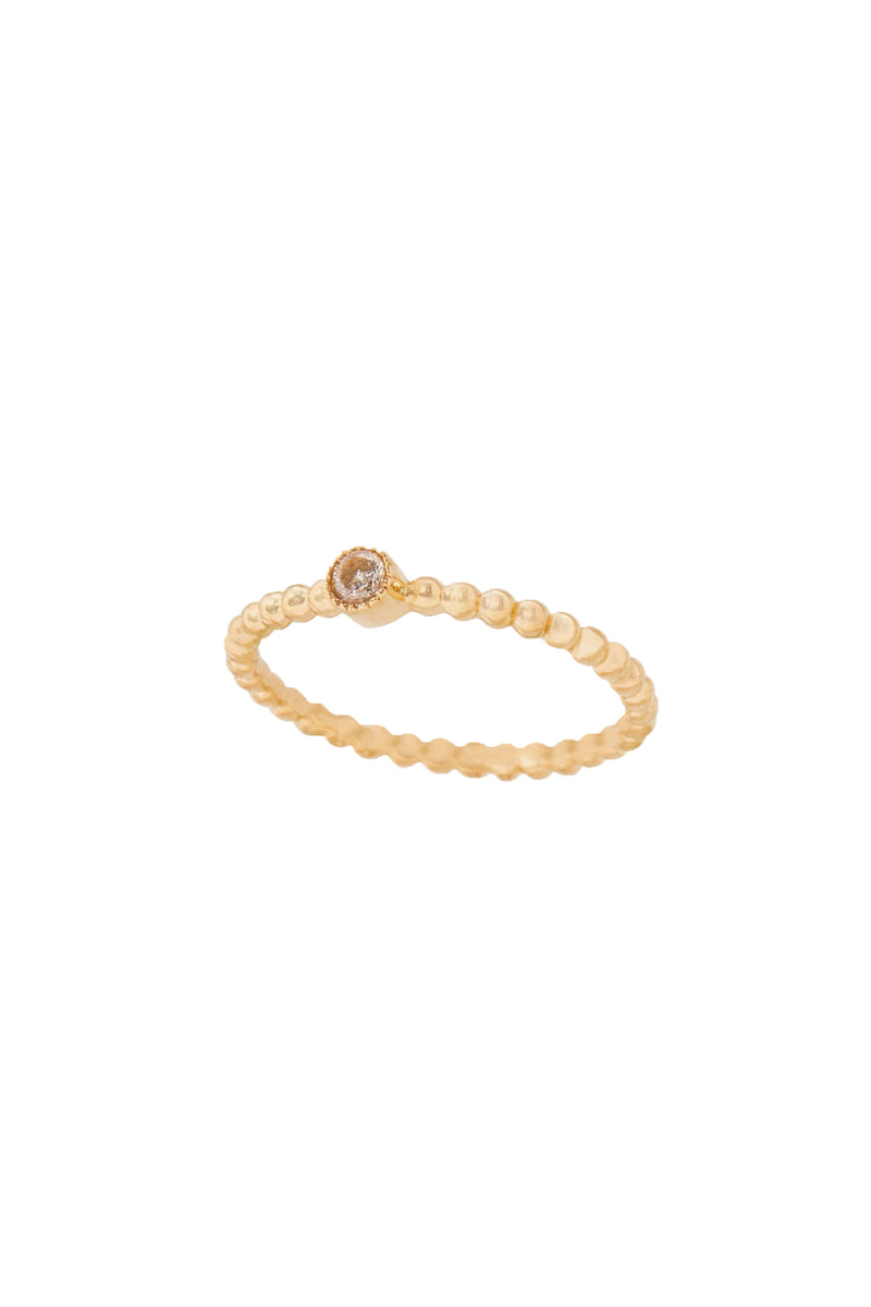 Eve Beaded Ring (Gold Fill) - S-kin Studio Jewelry | Minimal Jewellery That Lasts.